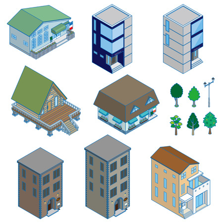 construction companies: Various building and Solid figure