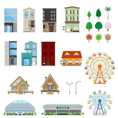 illustration: Various building Illustration