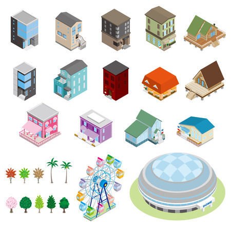 Various building and Solid figure