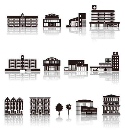premises: Building the icon  silhouette Illustration