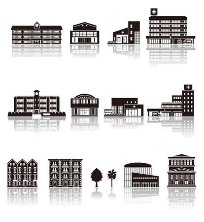 premises: Building the icon  silhouette Illustration