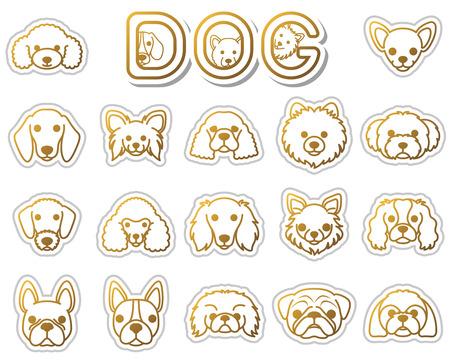 pekingese: DOG  icon Illustration