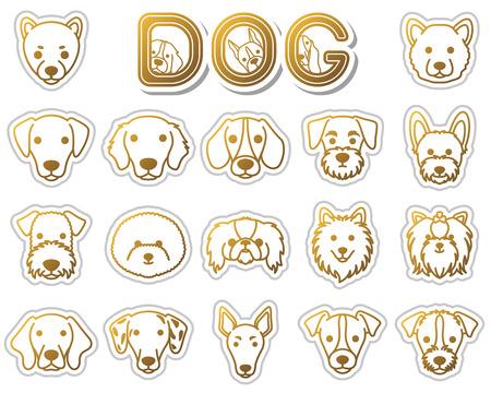 frise: DOG  icon Illustration