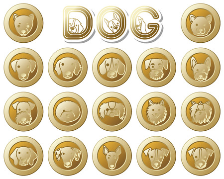 schnauzer: DOG  icon Illustration
