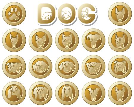 DOG  icon Illustration