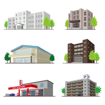 Building/Solid figure Stock Illustratie