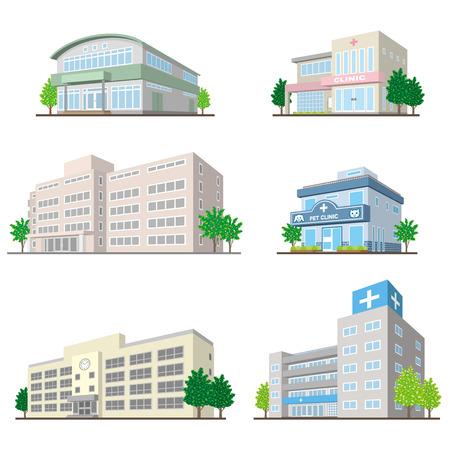 Budownictwo / bryłą Ilustracje wektorowe