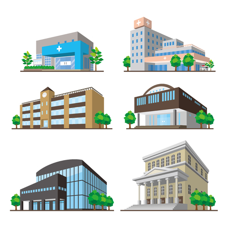 Building/Solid figure Stock Illustratie