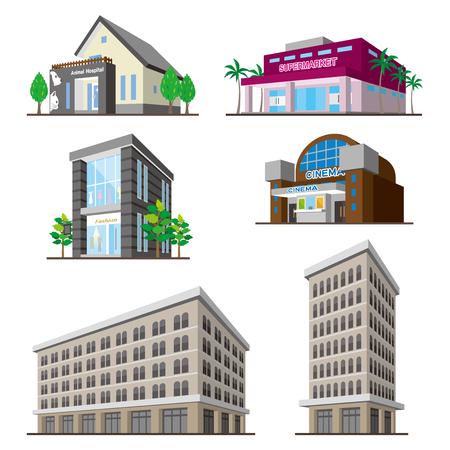 Edificio / figura Sólido Ilustración de vector