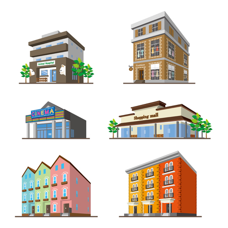 Building/Solid figure Illustration