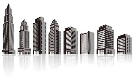 Building / Silhouette Ilustracja