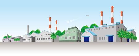 工業地域  イラスト・ベクター素材
