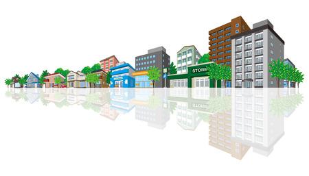 Cityscape 向量圖像