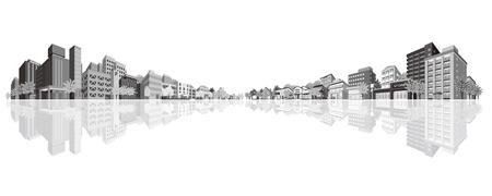building silhouette: Cityscape Illustration