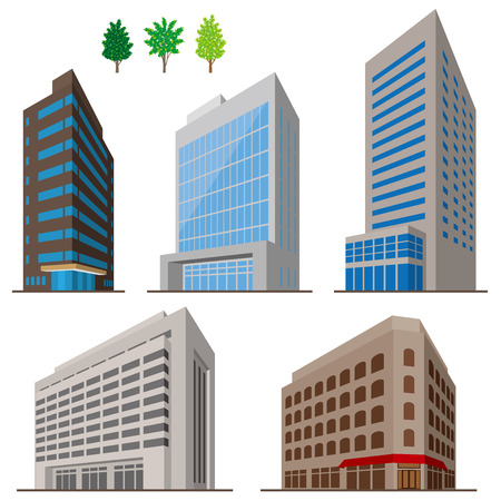 centers: Buildings Illustration