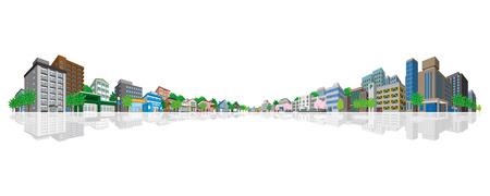 Cityscape  イラスト・ベクター素材