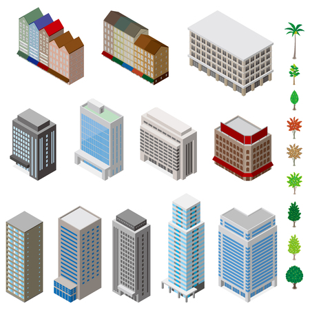 shopping malls: Various building and Solid figure