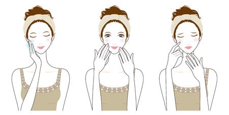 女性のスキンケア、美容、