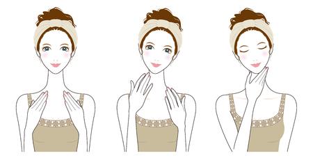 Woman skin care, Beauty,