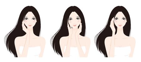 facial massage: Woman skin care, Beauty,