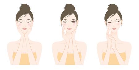 facial massage: Woman skin care, Beauty