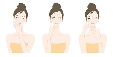 La donna la cura della pelle, bellezza Archivio Fotografico - 61444674