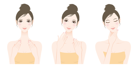 Woman skin care, Beauty