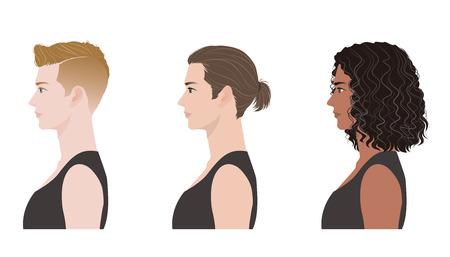 long hair model: Men hairstyle