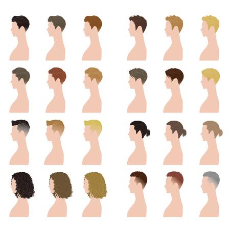 curly hair model: men hairstyle