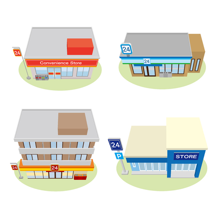 convenience: Illustration of the building, Convenience store