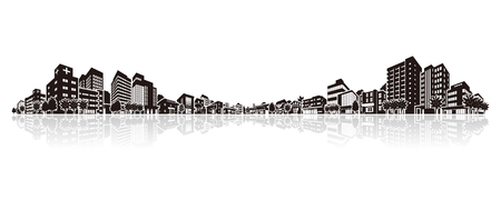 Cityscape Vector Illustration Stock Illustratie