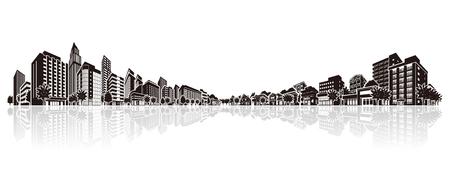 office building: Cityscape Vector Illustration Illustration
