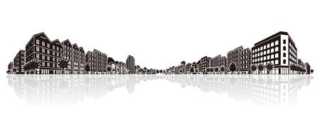 Cityscape Vector Illustration Illustration