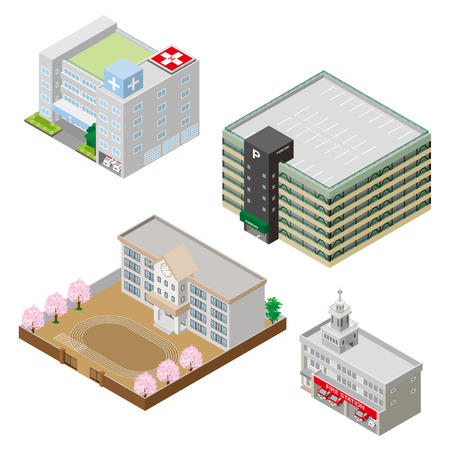 building lot: Various building and Solid figure
