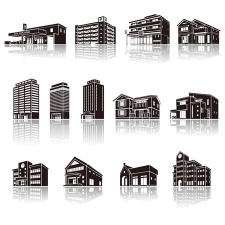 工場、立体図形の影の図 写真素材 - 71197455