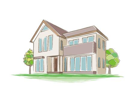 手書き風の家のイラスト のイラスト素材・ベクタ - . Image 73192651.