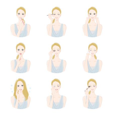 eye makeup: La mujer que compone Vectores