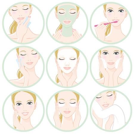 stylish hair: Women who do skin care