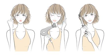 女性にとって髪のケア