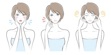 Expresión de la ilustración de la mujer.