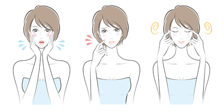 Expression of the woman illustration.