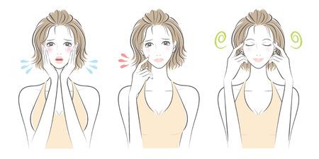 Expression of the woman illustration. Фото со стока - 83544023