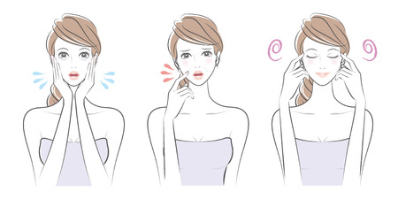 Expression of the womanillustration.