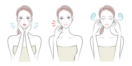 Uitdrukking van de vrouw illustratie.