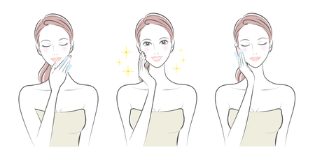 Expression of the woman  Skin care.