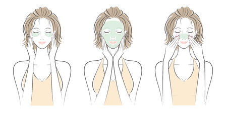 Expression of the woman  Skin care
