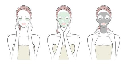 Skin care illustration.