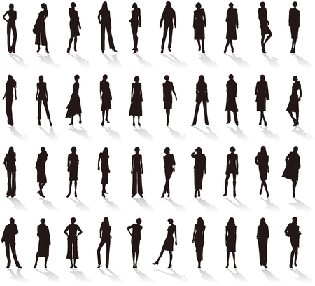 Silhouette of Women's fashion.