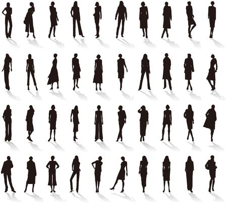 Silhouette of Womens fashion. Illustration