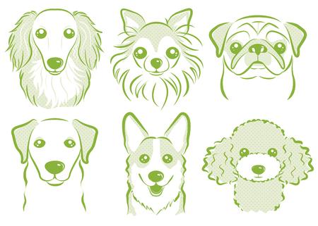 Dog illustration Vettoriali